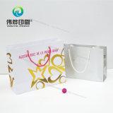 Impresión de papel de alta calidad bolsa de regalo con logo estampado en caliente