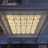 Lampe de plafond carré de cristal et de tissu de mode avec l'hôtel