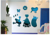 ホーム装飾のアクリルミラーのための子供3D映像