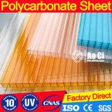Lumière du soleil transparente de polycarbonate couvrant la feuille claire