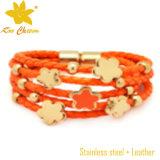 Weiße Leder-Freundschaft-Armbänder der Farben-Stbl-011 für Frauen