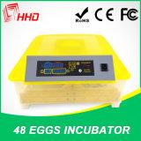 Nieuwe Transparante Kleine Automatische Incubator ew-48 van het Ontwerp voor Uitbroedend Ei