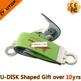 Silkscreen/In reliëf gemaakt/het Munten de Gift USB van het Leer van het Embleem van de Douane (yt-5101)