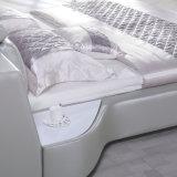 Серая кровать кожи цвета для пользы спальни (FB8128)