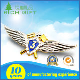 Custom Zinc Alloy Metal Medal Lapel Pin Badge Emblema com Casting Masonic Car Logo