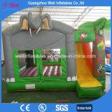 Elefant-Park-aufblasbarer springender Schloss-Plättchen-Prahler kombiniert