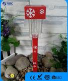 白い雪デザインのクリスマスの主題の太陽棒