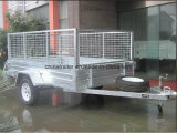 IMMERSION entièrement chaude 6X4 galvanisé remorque du cadre 7X5 et 8X5 de 7X4 avec la cage