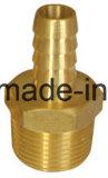 Encaixe masculino de bronze do adaptador da farpa da mangueira (1/4 x 3/8)