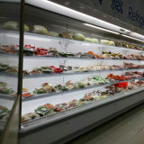 Refrigeratore dritto approvato della visualizzazione del Ce del supermercato