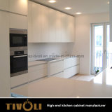 Griff-freies Melamin-moderne Wohnungs-Ausgangsentwurfs-Küche-Möbel (AO024)