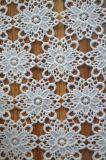 tela do laço do poliéster do bordado da forma para Dressing e matéria têxtil Home da senhora