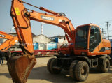 Máquina escavadora usada da roda de Doosan Dh150W-7 Dh140W-7
