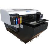 Ce Aprovado A2 Desktop UV LED Flatbed Printer para impressão PVC ID Card, caneta, telefone, vidro, metal, cerâmica, T-Shirt