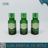bouteilles vert-foncé d'huile essentielle en verre 20ml givré