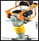 Rammer Vibratory do calcamento da gasolina da areia da terra do solo do pisco de peito vermelho 4HP
