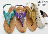 Signora di salto Shoes del PVC di nuovo disegno