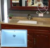 Bacia de lavagem inferior cerâmica da montagem de Retangle do projeto popular no banheiro Sn019