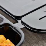 Pp.-schwarzes Wegwerffach-Plastikkasten