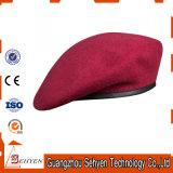 Boina militar roja de encargo de las lanas del 100%