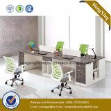 현대 알루미늄 유리제 나무로 되는 칸막이실 워크 스테이션/사무실 분할 (HX-GD041F)