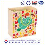 安いカスタム紙袋を詰めるロゴによって印刷されるクリスマスのギフトのショッピング