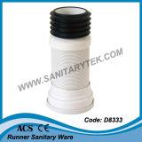 Connettore della vaschetta della toletta, tubazione di scarico della toletta (D8332)