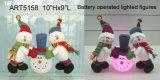 B/O de aangestoken Decoratie licht-2asst. van Kerstmis van de Sneeuwman