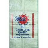 Sac tissé par pp de qualité pour 25kg le riz, graine, farine