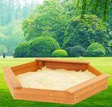 子供の六角形の子供のための木の運動場の砂場