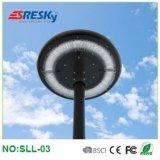 Bonne qualité toute dans une lampe extérieure de jardin de lumière solaire d'horizontal avec Wthite chaud et pur