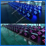 Discoteca LED DMX 512 par 9pcs Wireless Iluminación plana