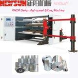 Feuille de PVC haute vitesse Alu BOPP PE papier d'étiquette de prix de la machine de refendage de film plastique