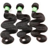 Jungfrau-brasilianisches Haar spinnt Karosserien-Wellen-Haar-Einschlagfaden