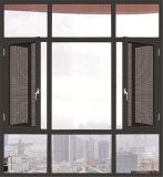 Seitliches Licht-ausgeglichenes Glas-Aluminiumflügelfenster-Fenster