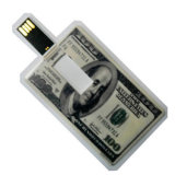 Cartão de Crédito Empresarial de plástico da unidade flash USB para o logotipo personalizado dom da empresa