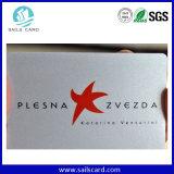 Carte lustrée d'entreprise de PVC de surface d'impression offset chaude de la vente 4+4