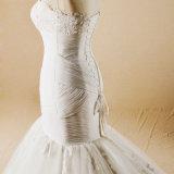 Trägerloses Spitze-Nixe-Hochzeits-Kleid 2017