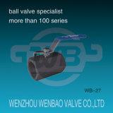 Three Way T Port filetage femelle en acier inoxydable Ball Valve