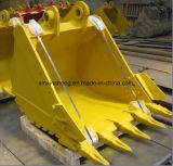 Pièces de machines de construction de Caterpiller Volvo KOMATSU de panier de bouteur d'excavatrice
