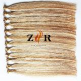 Menselijke Haar van het Haar van de Keratine van het Haar van de Kleur van de Piano van de luxe het Dubbel Getrokken Chinese