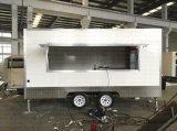 新しい2018閉鎖Food CarヴァンPackageオーストラリアの標準ファイバーガラスの移動式食糧トレーラー