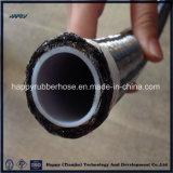 Выровнянный PTFE шланг тефлона оплетки провода нержавеющей стали 304