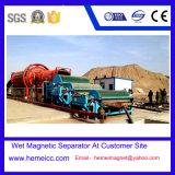 Separador magnético seco para areia, rochas de vulcões, minério macio