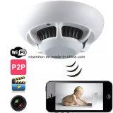 Mini UFO Câmara WiFi 720p 90 graus de ângulo do Detector de Fumaça oculto CMOS Lente de câmera WiFi