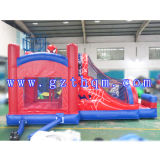 Divertissement Children's Cartoon Inflatable Bounce House / Inflatable Cloth Jump Bed