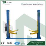 Placa de suelo hidráulico de dos postes elevador de coche