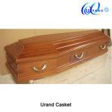 Madeira de mogno sólido Europa Style caixão e cofre