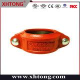 Raccordo tubo scanalato in ferro duttile con raccordo rigido FM/UL/CE