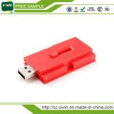 Una muestra gratis capacidad total de 16 GB de disco USB de plástico
